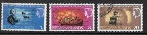 PITCAIRN ISLANDS SG82/4 1967 ADMIRAL BLIGH FINE USED