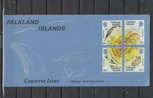 Falkland Is. Scott cat. 412-415. Marine Life issue. First day cover.