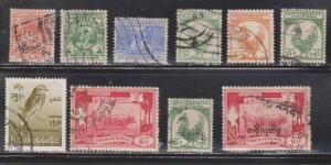 BURMA Selection Of Used Stamps - Some With Overprints