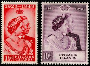 PITCAIRN ISLANDS SG11-12, COMPLETE SET, NH MINT. Cat £40. RSW.