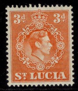 ST. LUCIA GVI SG133, 3d orange, M MINT.