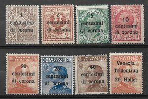 COLLECTION LOT OF #572 AUSTRIA ITALY OCCUPATION 8 MH/UNUSED NO GUM 1918+