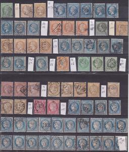 FRANCE CLASSIC USED STAMP lot Cat Value Yvert +$420 great condition see cancel