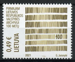 Lithuania Stamps 2021 MNH Lithuanian State Archives 100 Years 1v Set