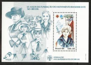 Brazil Scott 1947 MNH** 1984 girl scout souvenir sheet