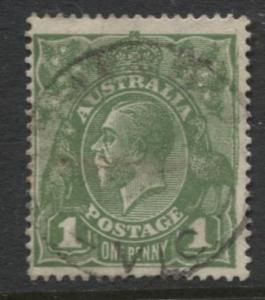 Australia - Scott 62 - KGV Head -1918 - FU - Wmk 11 - 1p Stamp