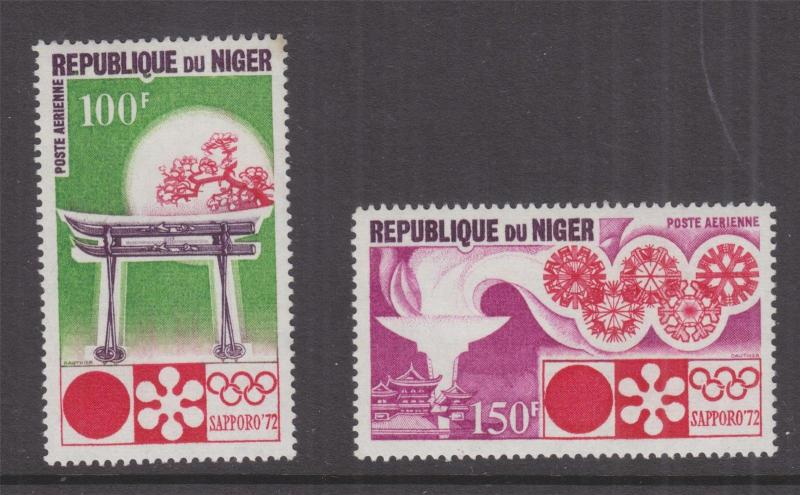 NIGER, 1972 Winter Olympic Games pair, mnh.