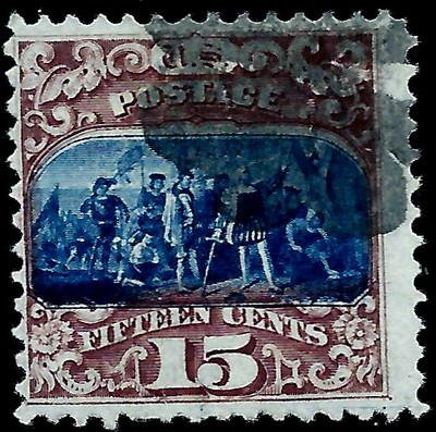 US #119 Type II ~ 15c Bi-Color Grilled Pictorial Issue of...