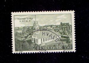 Faroe Islands 1989 used 186 Torshavn church 350ore   #