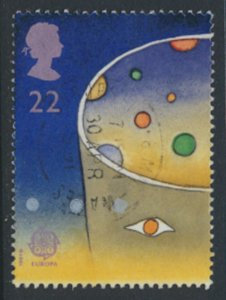 Great Britain  SG 1560  SC# 1374  Europa Space 1991  Used see detail and scan