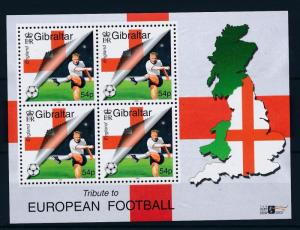[43086] Gibraltar 2000 Sports European Cup Soccer Football England MNH Sheet