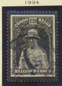 Belgian Congo Stamp Scott #158, Used
