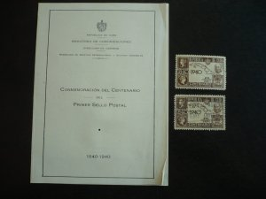 Stamps - Cuba - Scott# C32 - Mint Hinged & Used Stamps Plus PO Announcement