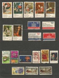 USA Postage Stamps Used 1974, 1975