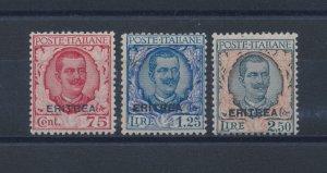 1925 Eritrea, Michetti Soprastampati, N° 113/115 MNH