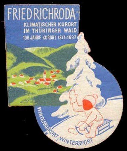 Germany 1937 Friedrichroda Poster Stamp