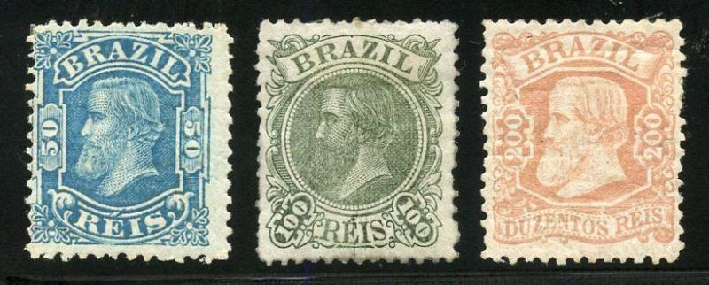 BRAZIL SCOTT#79/81  MINT HINGED ORIGINAL GUM