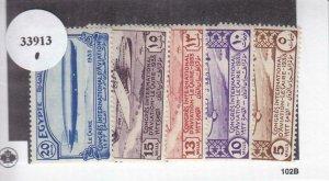 Egypt: Sc #172-176, MNH, Zeppelin Set (33913)