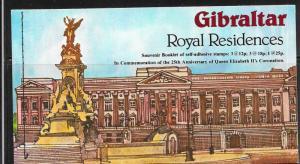 Gibraltar #368a  Royal Residences   booklet (MNH) CV$3.75