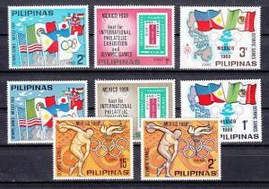 Philippines 1968 Cinderella issue. Summer Olympics issue.