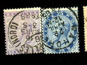 Belgium #47-8 Used Fine Cat $70