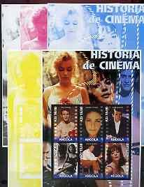 Angola 2002 History of the Cinema #03 large perf sheetlet...