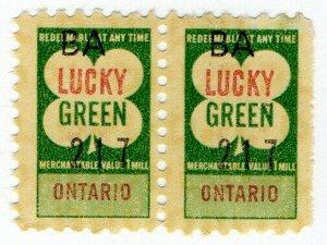(I.B) Canada Cinderella : Trading Stamp (Lucky Green - Ontario)