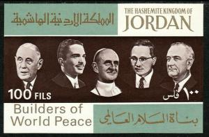 1967 Jordan Builders of World Peace S/S souvenir sheet (DeGaulle) MNH Sc# 534K