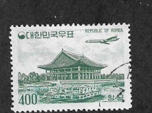 Korea C26 Cancelled 1961 Issue Plane over Pavillion