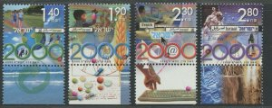 ISRAEL SCOTT #1385-1388 MILLENNIUM MNH WITH TABS AS SHOWN
