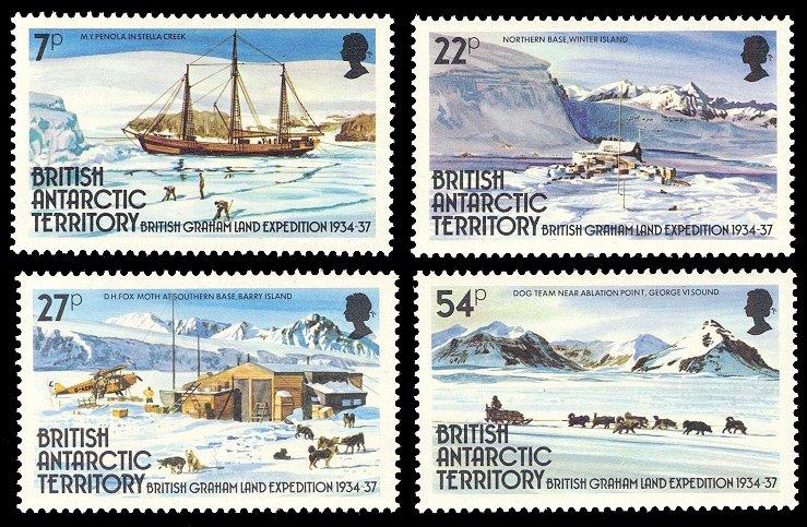 British Antarctic Territory 1985 Scott #121-124 Mint Never Hinged