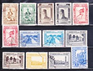 Peru 356-367, 369 U Various