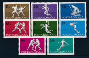 [42703] Romania 1969 Sports Fencing Boxing Volleybal Soccer MNH