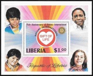 Liberia Mint Never Hinged ~ Souvenir Sheet ~ [9191]