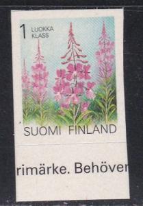 Finland # 838, Flowers, Self Adhesive, NH, 1/2 Cat.