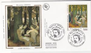 France 1993 Maurice Denis Slogan Cancels Les Muses Pic + Stamp FDC Cover Rf31651