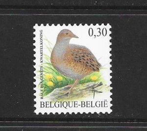 BIRDS - BELGIUM #2124  MNH