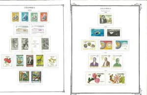 Colombia 1959-1990 Mint (mostly) & Used on a mix of Mostly Scott Pages