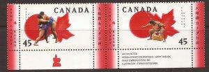1998 Canada - Sc 1724a - MNH VF -pair w 4 tabs w bottom margin-Sumo Canada Basho