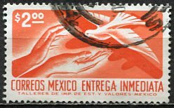 Mexico; 1975: Sc. # E23; O/Used Single Stamp