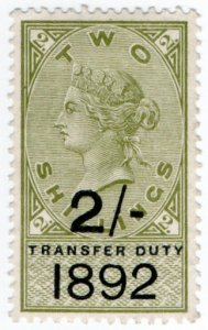 (I.B) QV Revenue : Transfer Duty 2/- (1892)