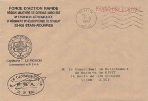 France Military Free Mail 1992 55 Etain, Meuse to Le Commandant de la Brigade...