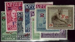 Belgium Congo #130-138 Mint F-VF SC$39.00... Popular Country!