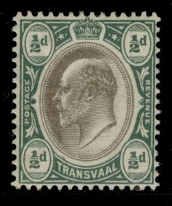 SOUTH AFRICA - Transvaal EDVII SG244, ½d black and bluish-green, M MINT. WMK CA