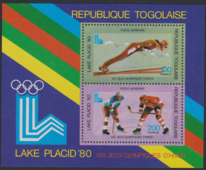 Togo #C412 YTBF137 MNH S/S CV$6 1980 Lake Placid Winter Games