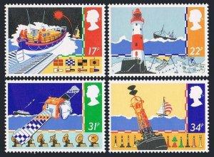 Great Britain 1107-1110, MNH. Mi 1031-1034. Safety at Sea, 1985. Lifeboat, Yacht