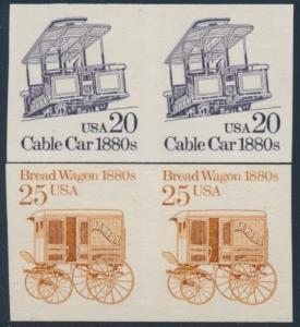 #2136a, #2263a (2) DIFFERENT IMPERF PAIRS MAJOR ERROR CV $60.00 BP4106