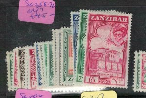 Zanzibar SG 358-72 MOG (6ene)