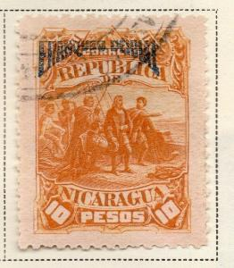 Nicaragua 1892 Early Issue Fine Used 10P. Official Optd 323715