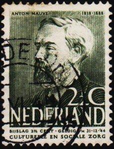 Netherlands. 1939 2 1/2c+2 1/2c S.G.493 Fine Used